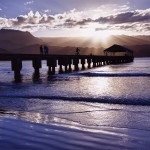 Originally wood, the pier was built in 1892 so Kauai could take shipments of goods from the mainland United States. In 1921, the state passed legislature allowing for $25,000 to be spent upgrading to concrete. In 1979, the pier was added to the National Register of Historic Places in Hawaii. 