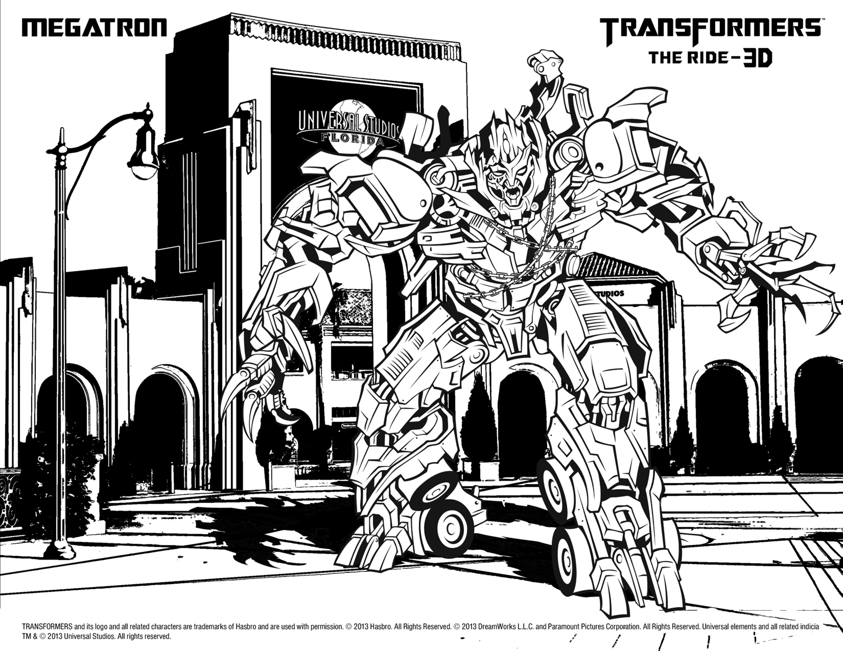 transformers the ride 3 d coloring for kids