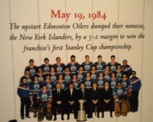 Edmonton wins the Stanley Cup for the first time in 1984.