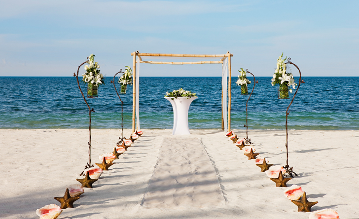The Beloved Hotel Beach Wedding Playa Mujeres