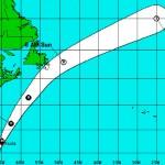 Hurricane Gonzalo's forecast track