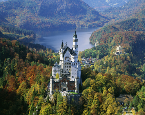 Neuschwanstein Castle, Bavaria, Germany Disneyland Sleeping Beauty Castle