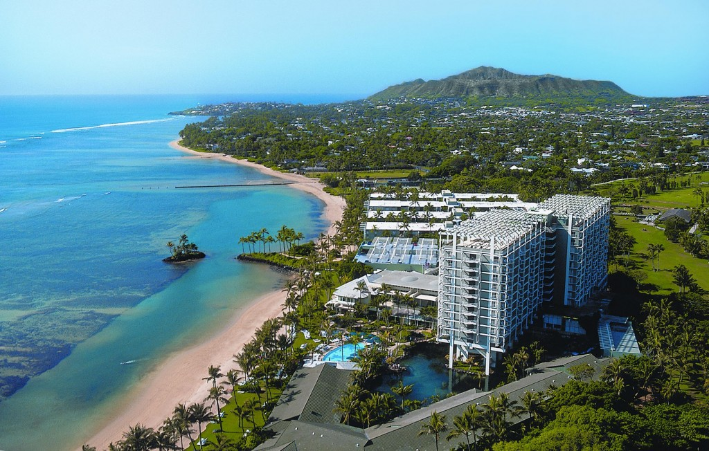 The Kahala Hotel & Resort pineapple drop Hawaii New Year's