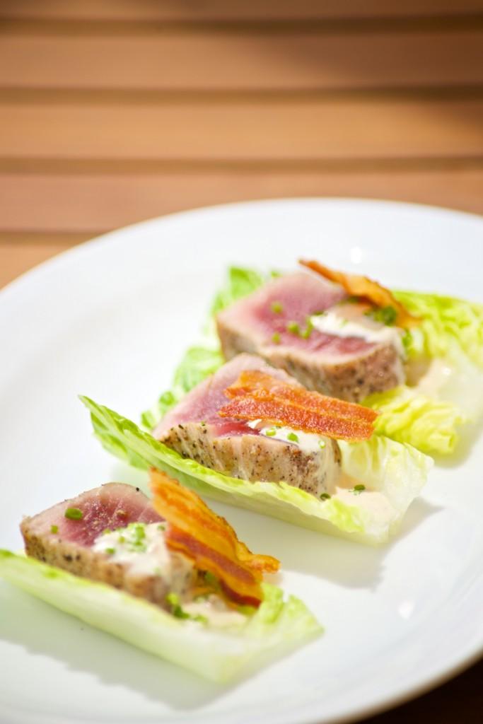 Tuna Caesar Salad Bites Fairmont Hamilton Princess Chef Marcus Samuelsson  #GOGOEats