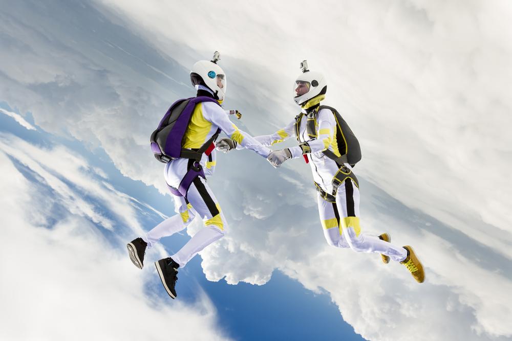 Skydiving wedding ultimate plunge themed wedding