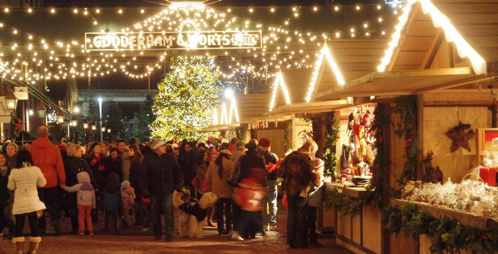 Toronto Christmas Market in the Historic Distillery District