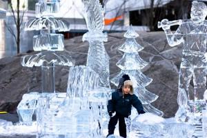 Toronto winter ice sculptures