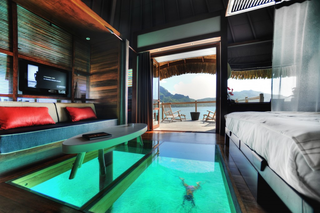 Le Meridien Bora Boara overwater bungalows Tahiti