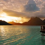 Tahiti overwater bungalow South Pacific