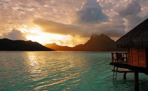 Tahiti overwater bungalow South Pacific