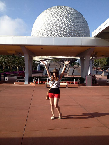 Meghan at Epcot