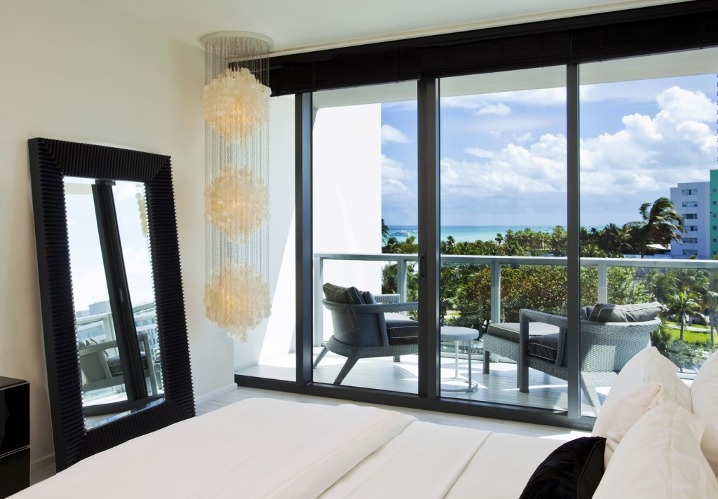 Sensational Suite Bedroom at W South Beach