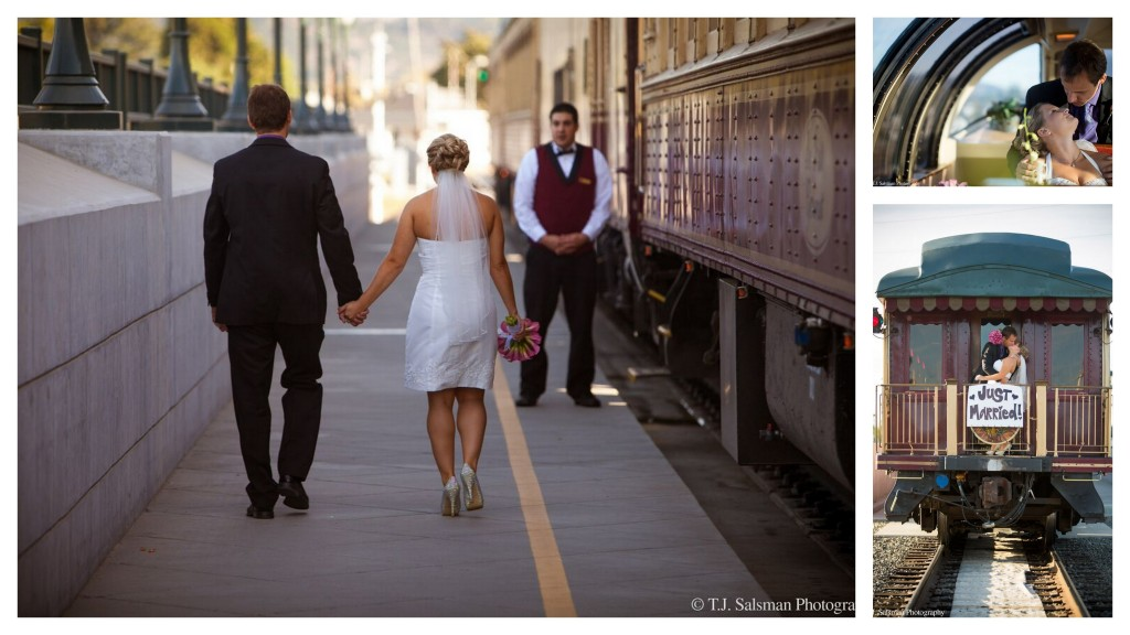Wine Train Wedding Collage