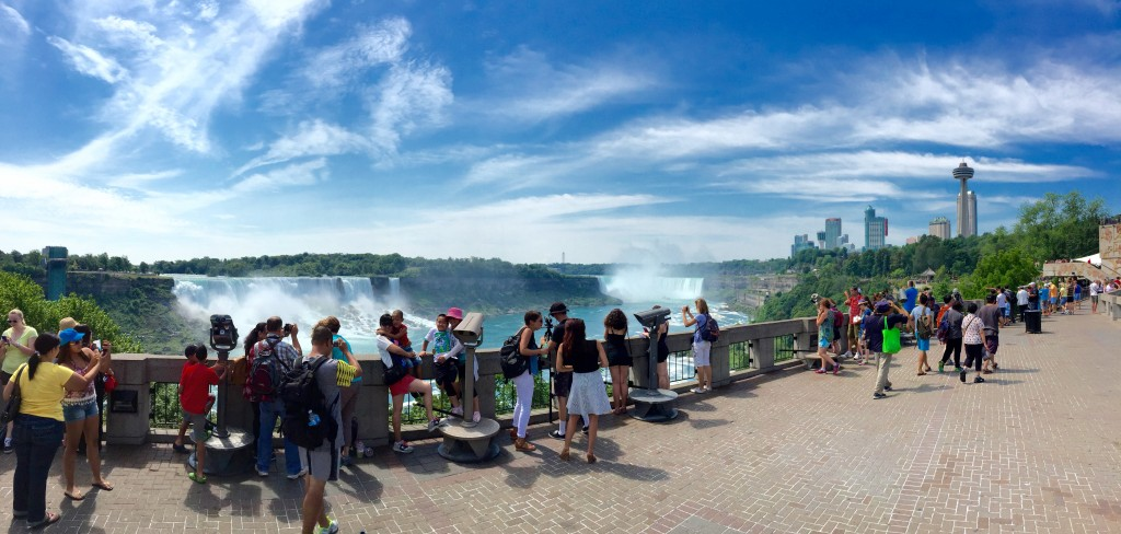 From the top deck of Niagara Hornblower Cruises