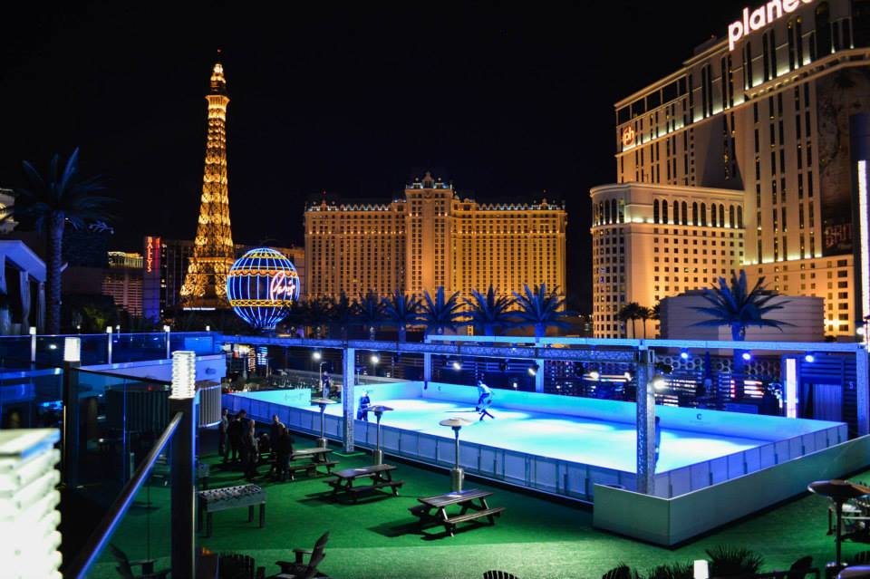 The Cosmo Ice Rink Returns to The Strip!
