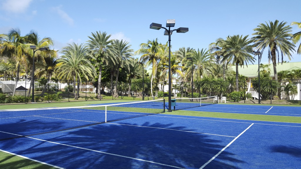 New Tennis Courts at St. James's Club & Villas