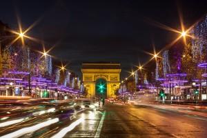 Paris, on the Champs-Elysées market