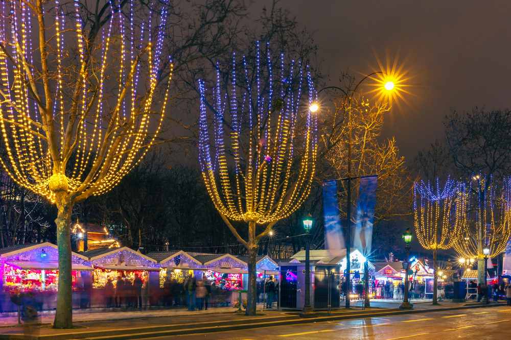 Christmas Market along the Champs-Elysées in Paris