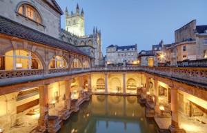 Old Roman Baths in Bath, England
