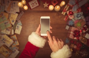 Santa on a Smart Phone