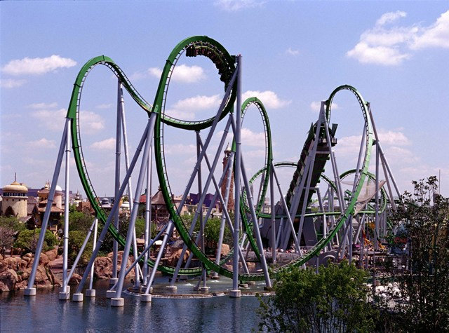 THE INCREDIBLE HULK ROLLER COASTER Universal