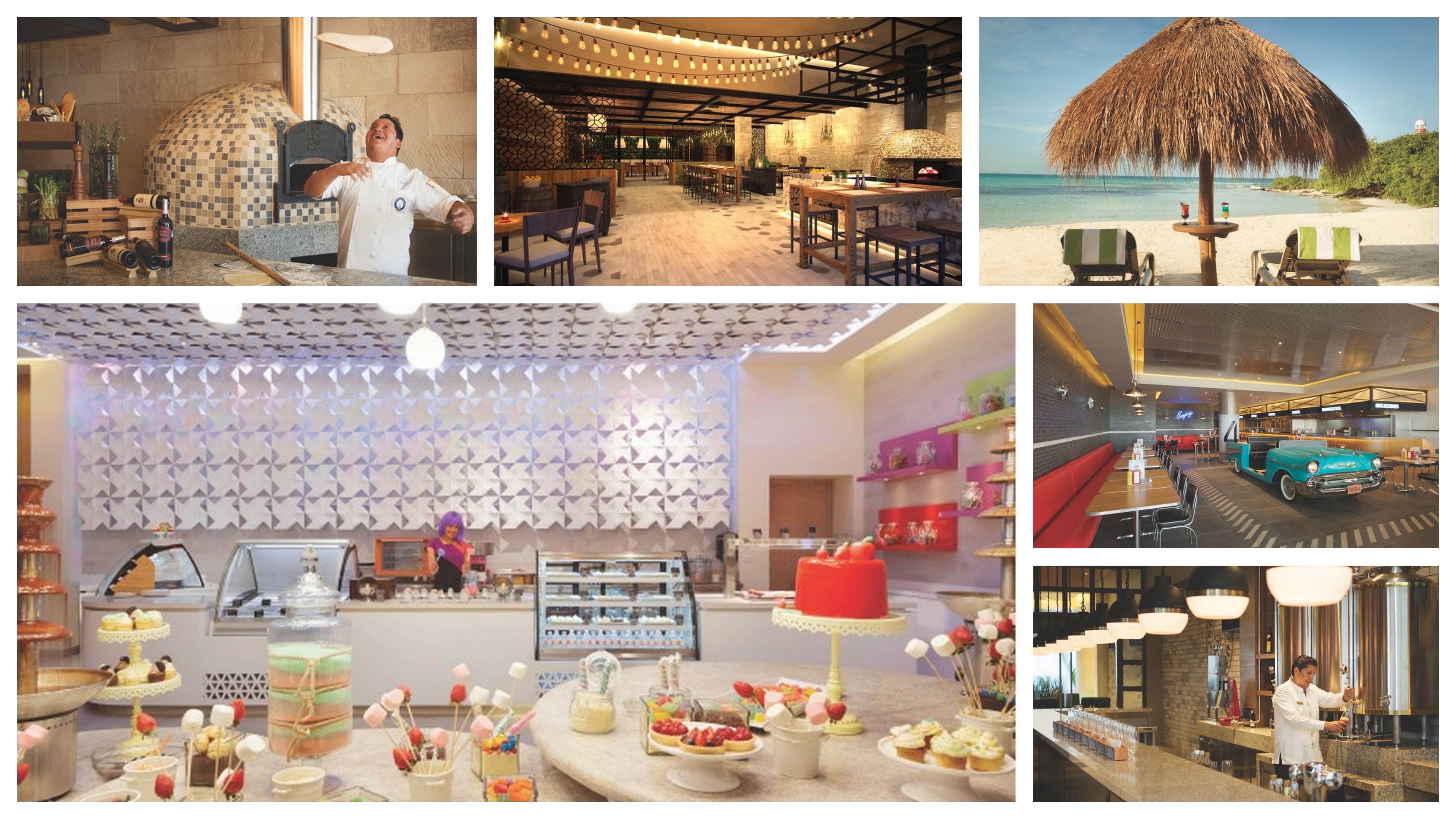 Hyatt Ziva Cancun Collage Restaurants