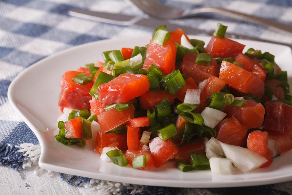 Lomi Salmon Hawaiian Food