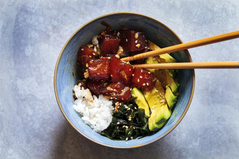 Poke Bowl Hawaiian Food