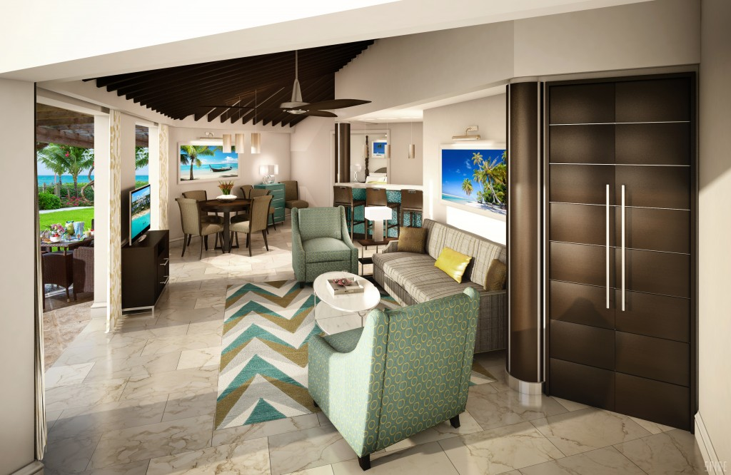 Two Bedroom Villa Living Room Beaches Turks & Caicos