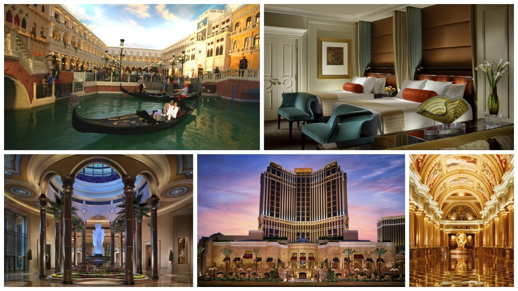 Venetian and Palazzo collage
