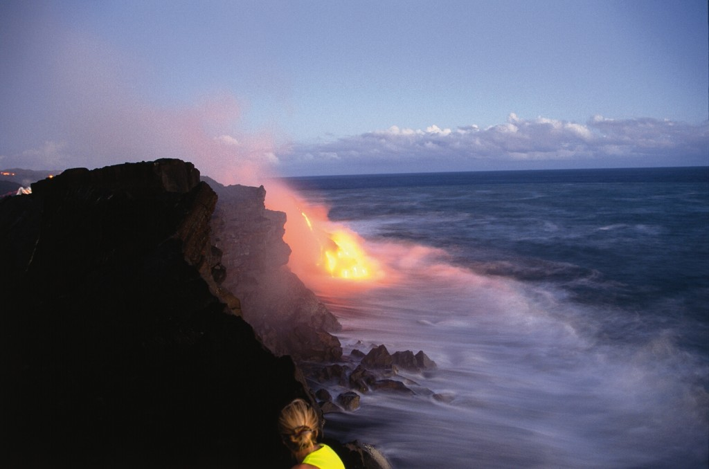The lava is constantly flowing