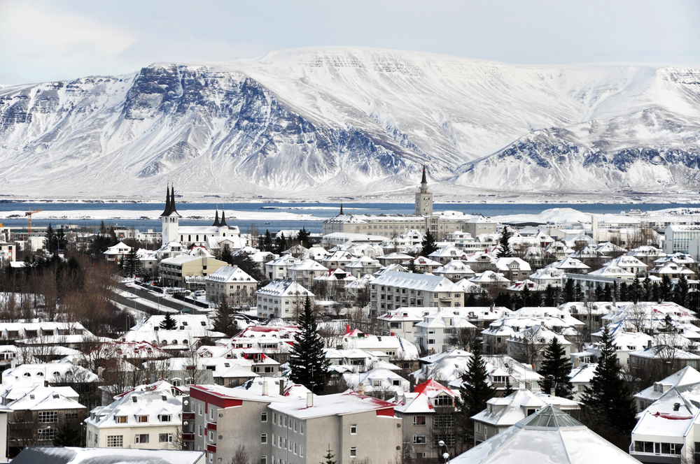 Reykjavik and the snowy mountains home to the Wildlings and White Walkers