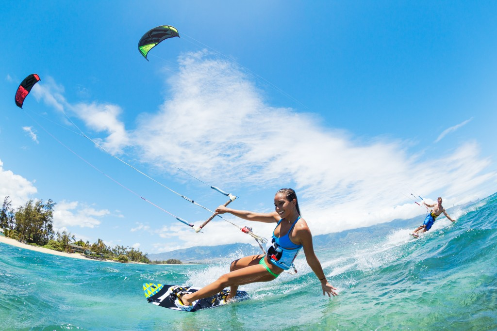 Kite Surfers in Maui