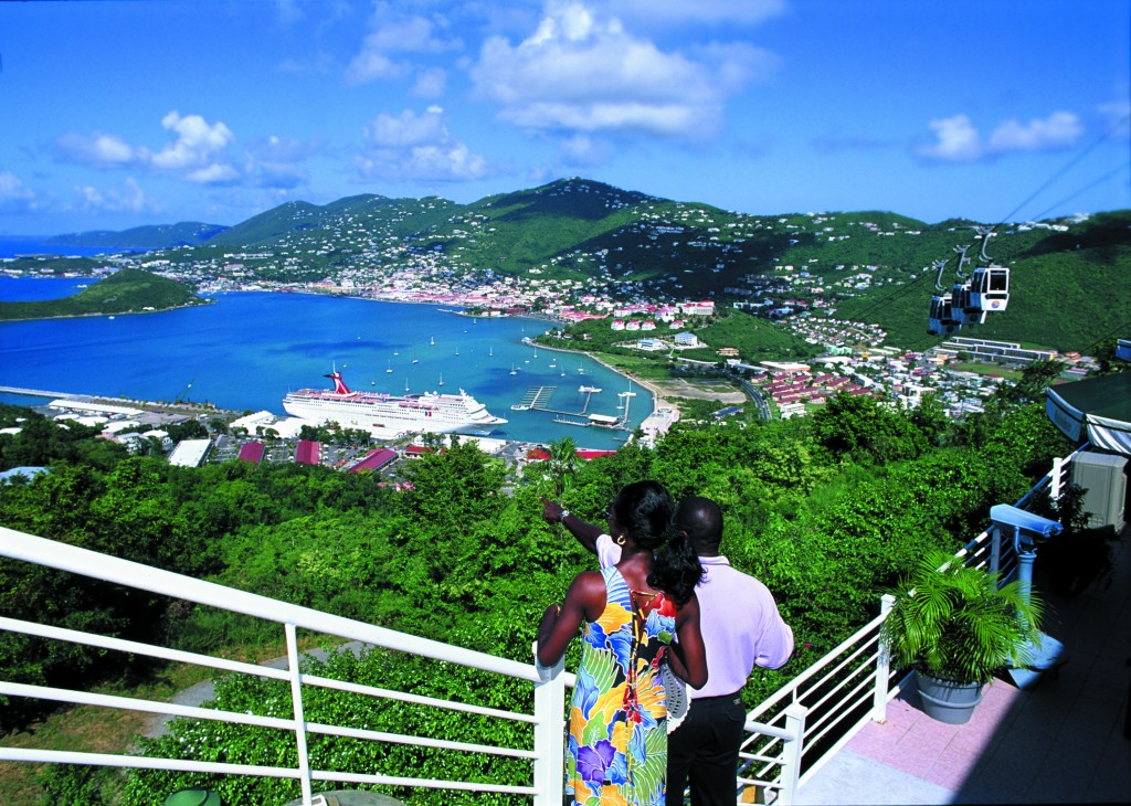 Amazing views of Charlotte Amalie from the top of Paradise Point