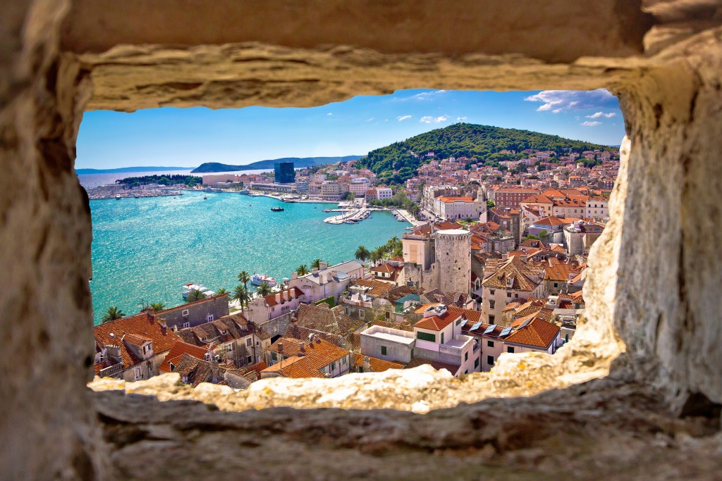 Picture perfect view of Split Bay along Croatia's Dalmatian Coast