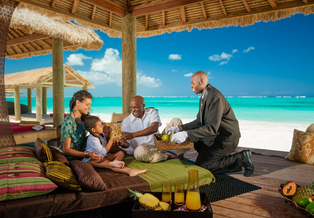 The professional butlers at Beaches Resorts pamper guests of all ages.