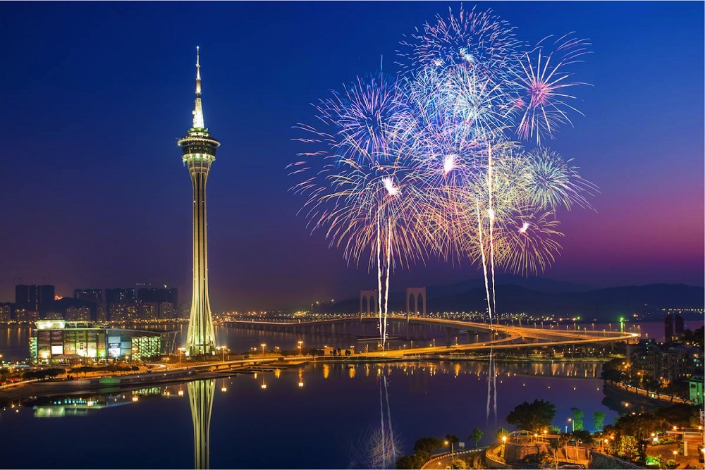 Macao Fireworks Nightview 2
