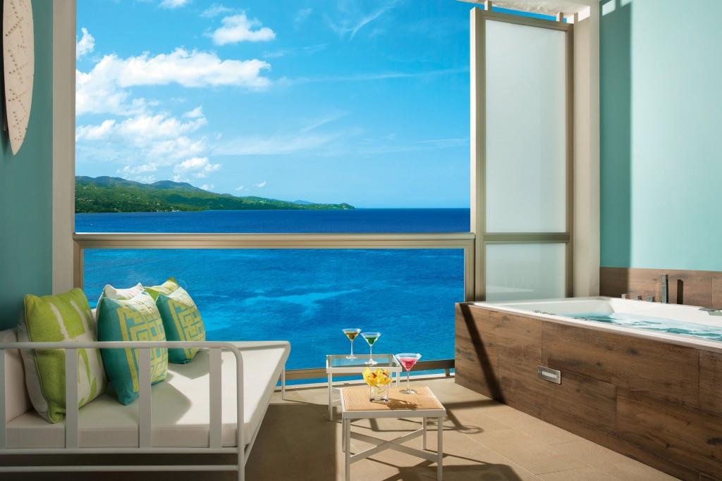 Junior Suite Ocean View Terrace at Breathless Montego Bay